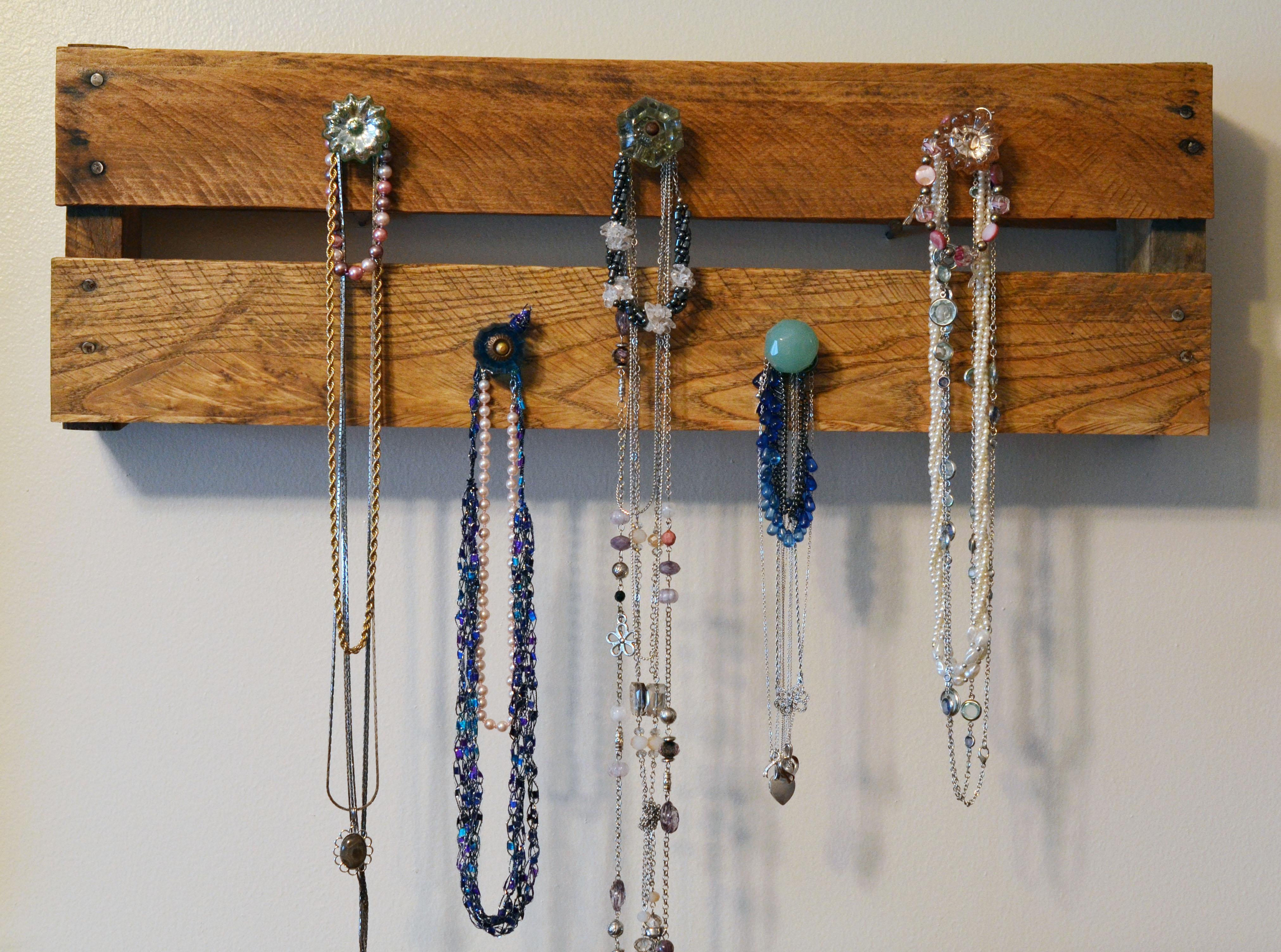 DIY Pallet Jewelry Hanger Razzling Dazzling